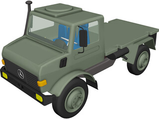 Mercedes-Benz Unimog 1300 4x4 Truck 3D Model 3D Preview