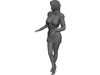 Woman Night Club Girl 3D Model