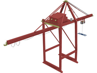 Shipping Port Crane Small 3D Model