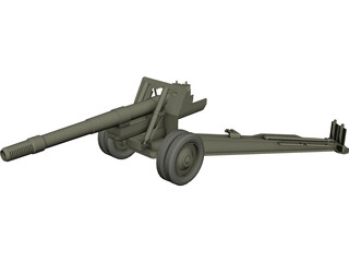 ML-20 WW2 Cannon 3D Model
