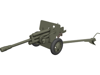 ZIS-3 WW2 Field Cannon 3D Model