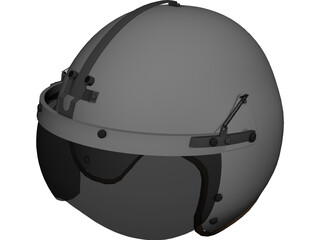 USAF P-4B Flight Helmet 3D Model