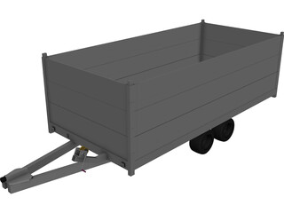 Trailer Anssems Msx 3000 3D Model