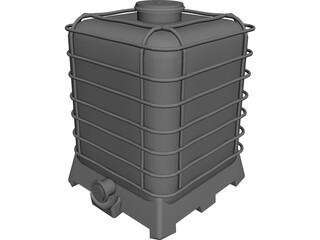 IBC Chemical Bin 3D Model