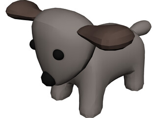 Toy Dog 3D Model 3D Preview