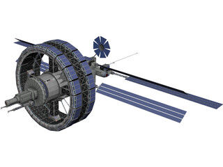 Freedom V Space Station 3D Model