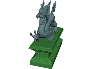 Chinese Dragon Statue 3D Model 3D Preview