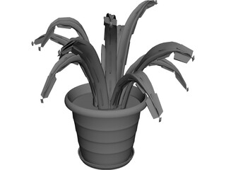 Aloe Plant in a Pot 3D Model