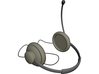 Headphones with Mic 3D Model
