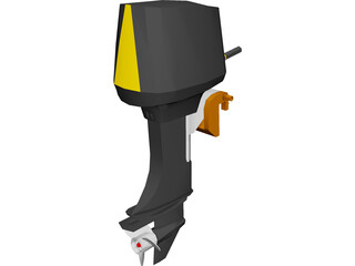 Outboard Motor 30hp 3D Model