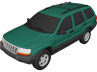 Jeep Grand Cherokee (2000) 3D Model 3D Preview