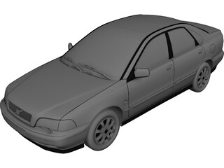 Volvo S40 (2000) 3D Model 3D Preview