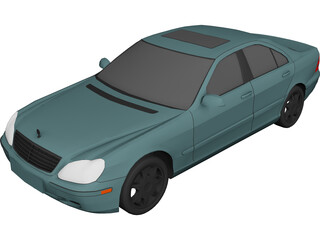 Mercedes-Benz S-class (2000) 3D Model