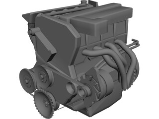 Engine 3D Model 3D Preview