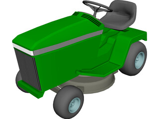 Lawnmower Riding 3D Model
