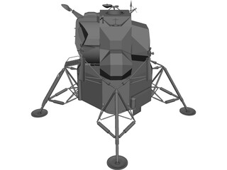Apollo Lunar Lander 3D Model
