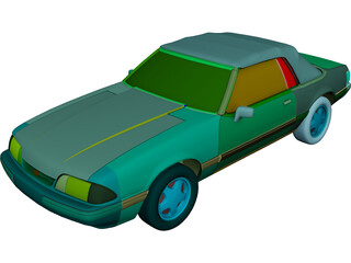 Ford Mustang Convertible (1993) 3D Model