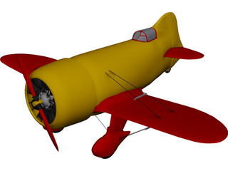 Gee Bee 3D Model 3D Preview