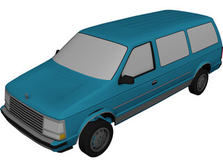 Plymouth Voyager (1987) 3D Model