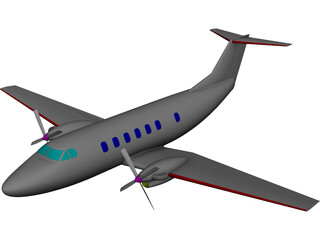 Beechcraft Super King Air 200 3D Model