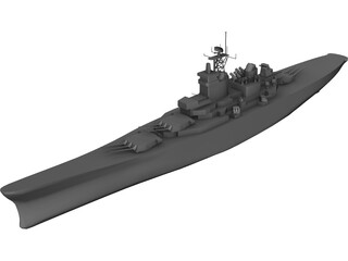 Iowa Battleship 3D Model 3D Preview