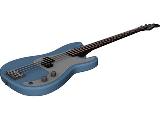 Fender Precision Mexican Bass 3D Model