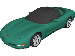 Chevrolet Corvette (1997) 3D Model 3D Preview