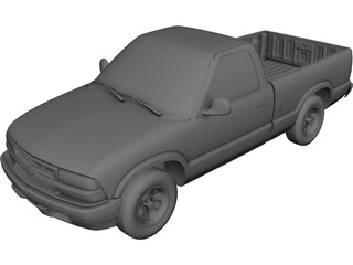 Chevrolet S10 Pickup (1998) 3D Model 3D Preview
