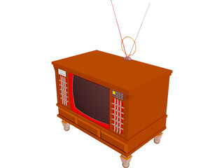Television 3D Model