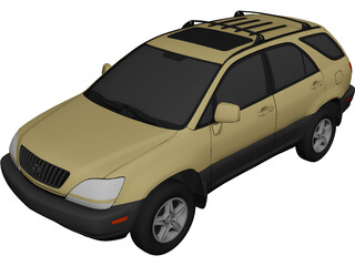 Lexus RX300 (1998) 3D Model 3D Preview