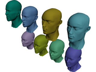 Heads Collection 3D Model
