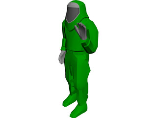 Fire Suit 3D Model 3D Preview