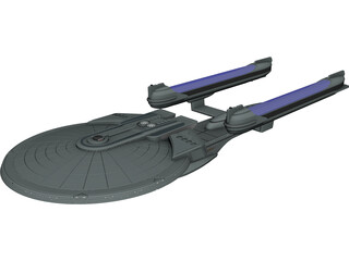 Star Trek Enterprise B 3D Model