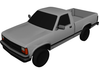 Dodge Dakota (1988) 3D Model