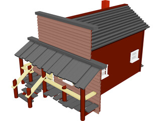 Store Old West 3D Model