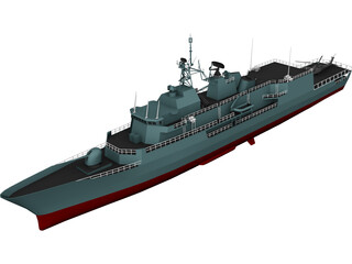 Anzag Class Frigate 3D Model 3D Preview