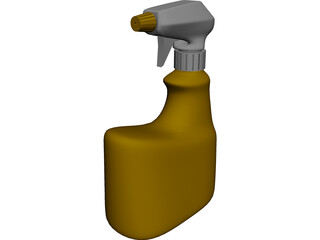 Bottle Spray 3D Model
