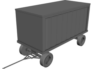 Baggage Cart 3D Model