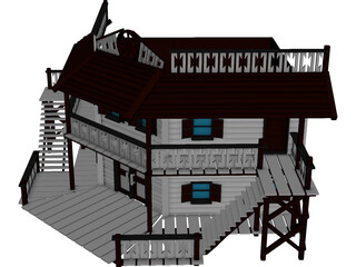Hotel Old West 3D Model