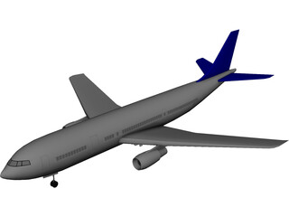 Airbus A300 3D Model 3D Preview