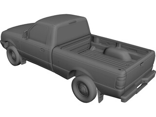 Ford Ranger Pickup (1998) 3D Model
