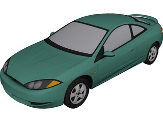 Ford [Mercury] Cougar (1999) 3D Model 3D Preview