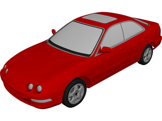 Honda [Acura] Integra Sedan [+Interior] (1994) 3D Model