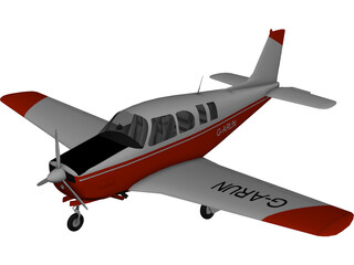 Raytheon A-36 Bonanza 3D Model