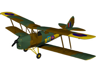 de Havilland DH-82A Tiger Moth 3D Model