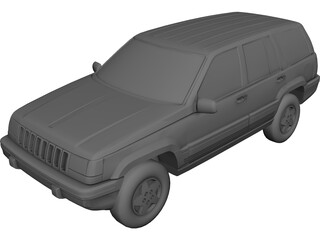 Jeep Grand Cherokee (1994) 3D Model 3D Preview