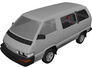 Toyota Van (1987) 3D Model