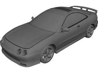 Honda [Acura] Integra Coupe (1998) 3D Model