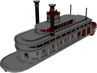 Paddle Boat 3D Model