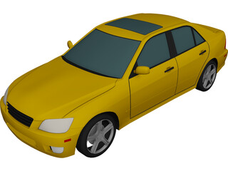 Lexus IS300 (2001) 3D Model